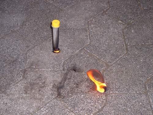 Burning Reagenzglas