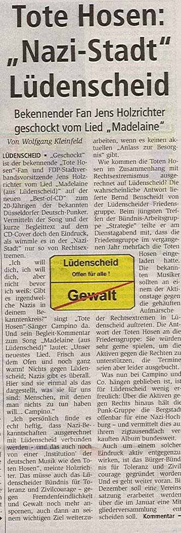 Lüdenscheid #13 - Lüdenscheid = Nazistadt = Scheißstadt