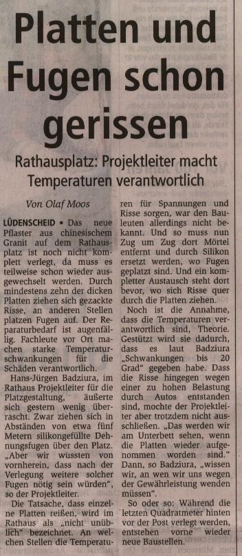 Lüdenscheid #19 - gerissene Platten