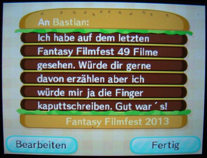 Animal Crossing: New Leaf vs. Fantasy Filmfest 2013 - #2
